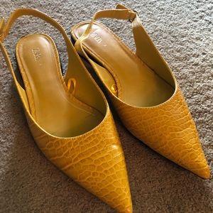 Zara yellow flats
